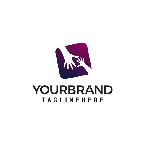 hand care logo design conceito modelo vector