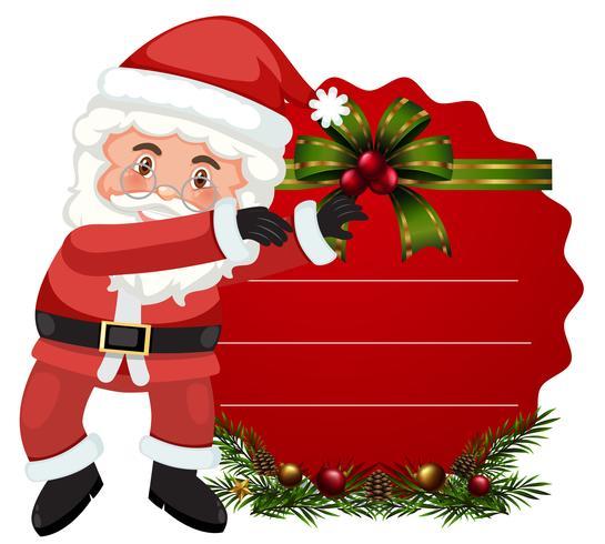 Eine Weihnachtsmann-Kartenschablone