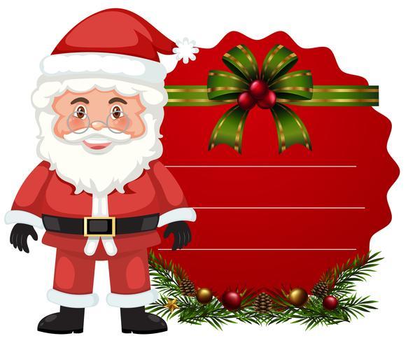 Plantilla de tarjeta de Navidad con santa