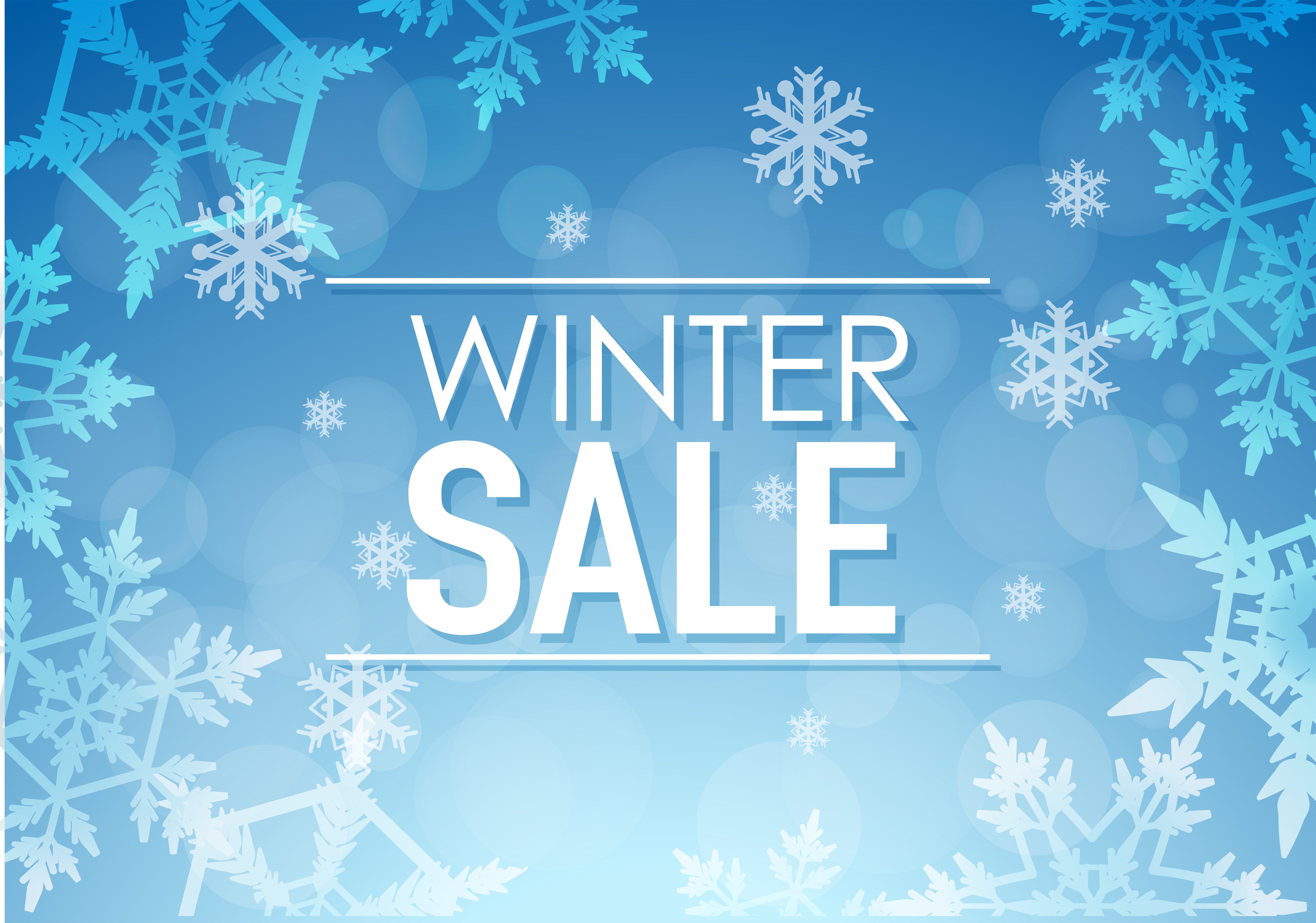 Winter sale poster design with snowflakes - Download Free ... | 5599 x 3929 jpeg 4450kB