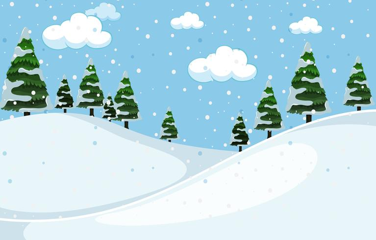 En vit vinterbakgrund