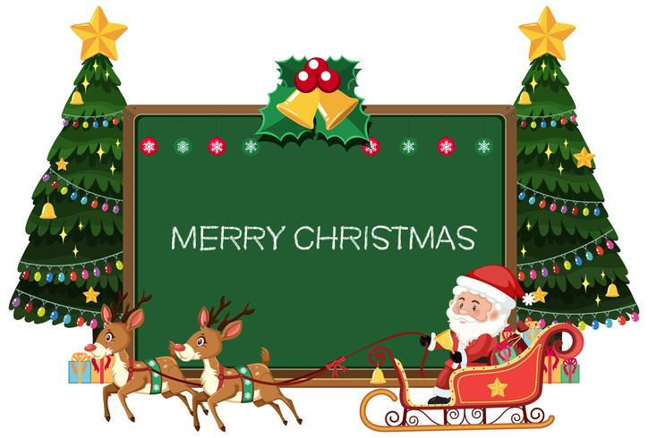 Merry christmas Blackboard card vector