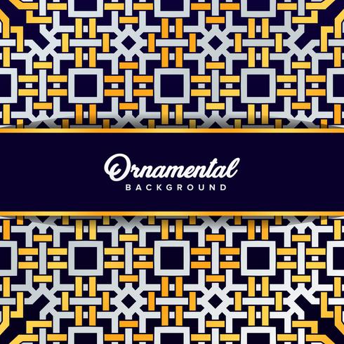 Arabic ornament background baroque in Victorian style. Element f vector