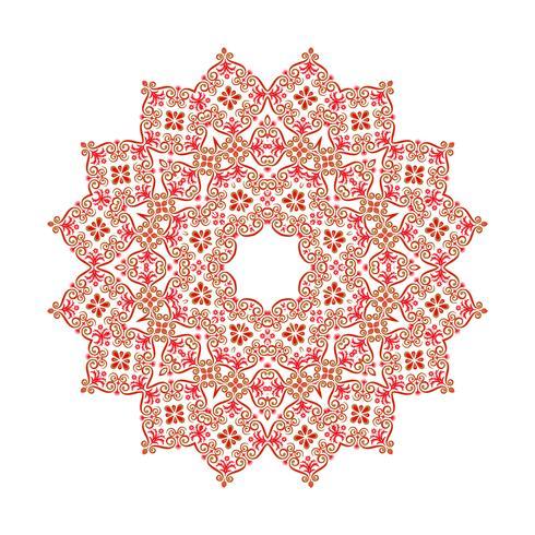 Fondo del ornamento de la mandala. Elementos decorativos vintage redondos.