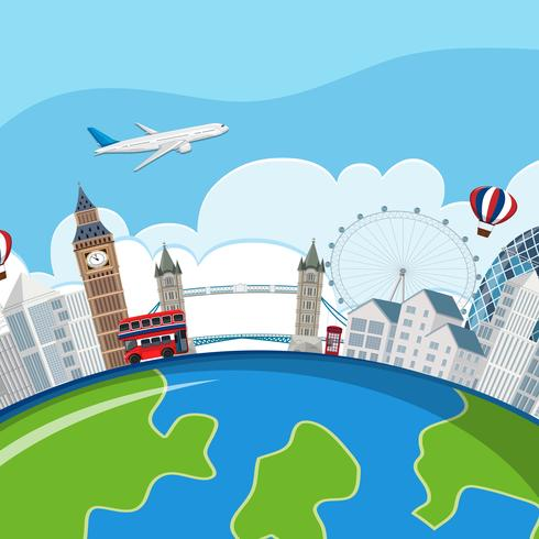 concept de planète points de repère de Londres