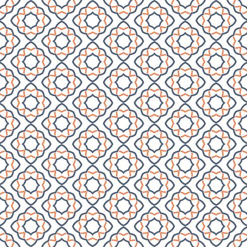Patrón de ornamento inconsútil árabe. Patrón decorativo ornamental vector