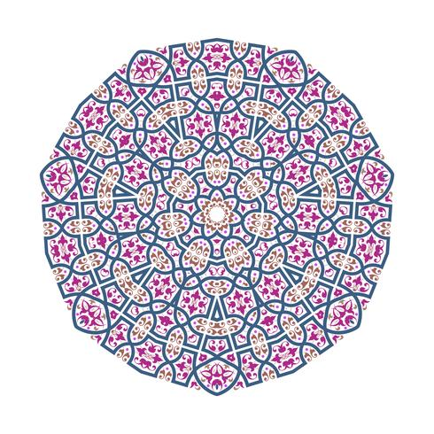 Mandala Ornament Hintergrund Runde Vintage Dekorative