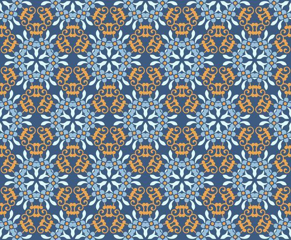 naadloze bloemen ornament patroon vectorillustratie