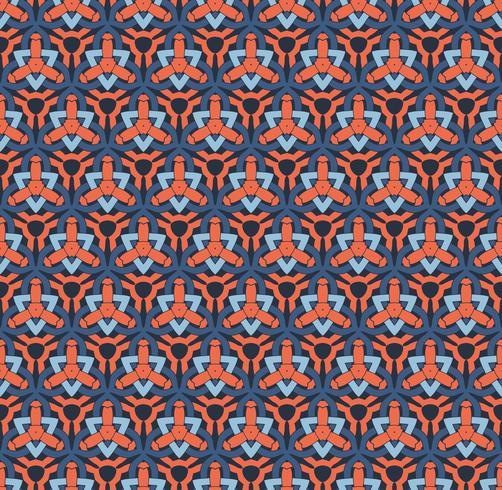 illustration vectorielle de modèle sans couture ornement