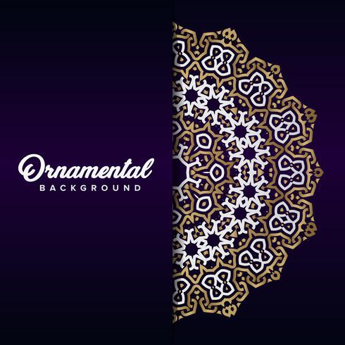 Arabic ornament background baroque in Victorian style. Element f