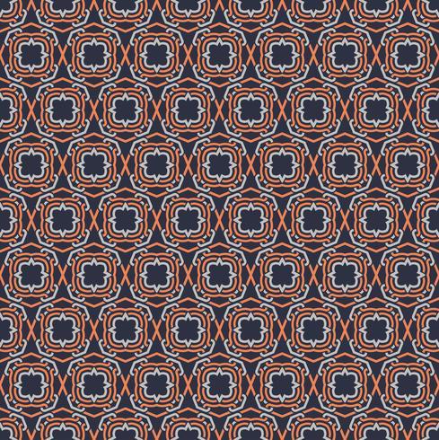 Seamless mönster dekorativa symmetrier, prydnad mönster vektor