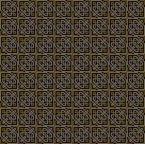 Simmetrie decorative del modello senza cuciture, vettore del modello dell'ornamento