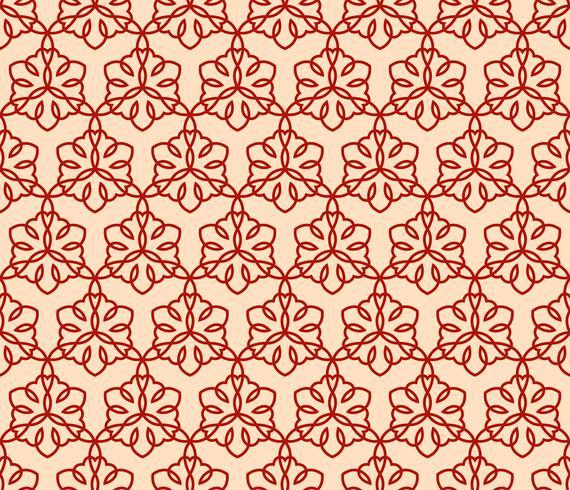Motif linéaire sans couture avec croisement des lignes courbes et des parchemins o