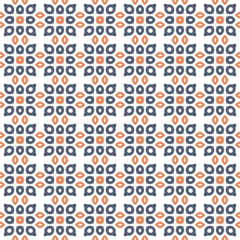 Sem costura padrão floral abstrato. estilo moderno de simetria