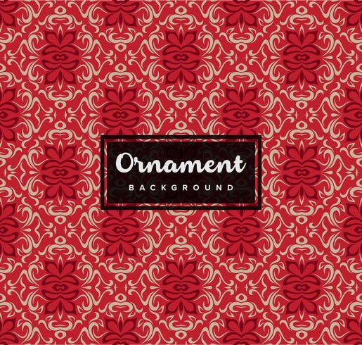 Nahtloser dekorativer dekorativer Hintergrund mit roter Farbe