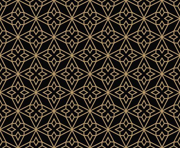padrão sem emenda de ornamento de linha geométrica, styl minimalista moderno