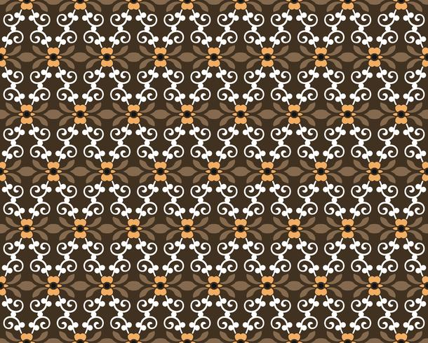 seamless floral ornament pattern vector illustration