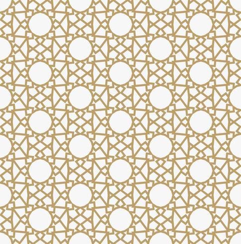 Padrão de decoração geométrica abstrata com linhas. Um vec sem costura