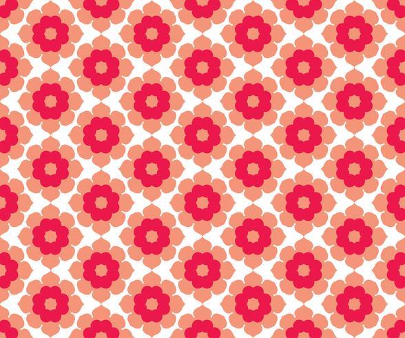 Vector floral de patrones sin fisuras, vector repitiendo textura backgro