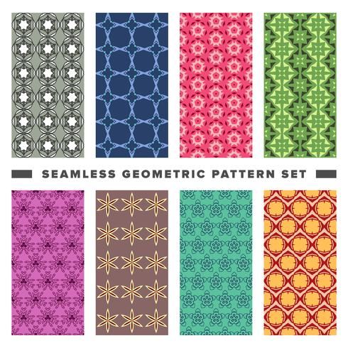 Set di pattern di forme geometriche decorative senza soluzione di continuità