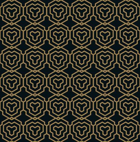 Vektor nahtlose Muster. Moderne stilvolle Textur. Geometrische Linie