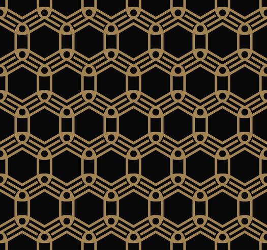 Ornements géométriques de luxe moderne avec des motifs sans soudure de lignes