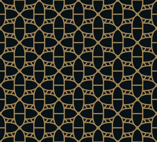 Patrón sin fisuras con adornos de línea. Resumen geométrico moderno v