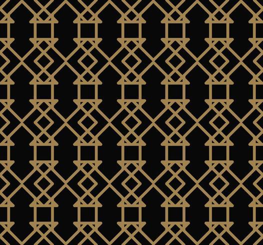 Astratto modello senza soluzione di continuità. Linea geometrica ornamento d'oro. ornamen