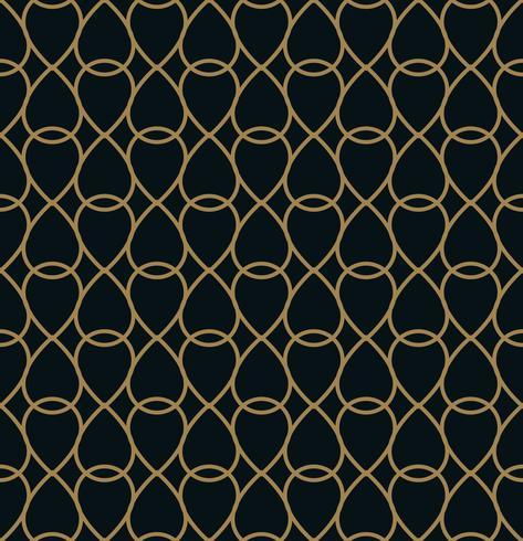 Modello di piastrelle geometriche moderne di vettore. forma foderata d'oro. Abstr