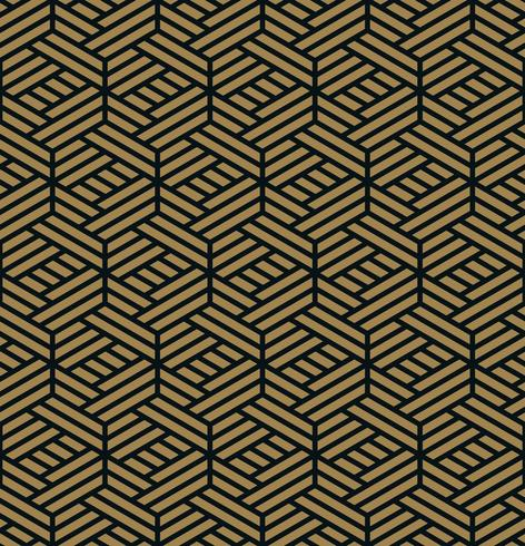 Modello senza soluzione di continuità Elegante ornamento lineare. Bac elegante geometrica
