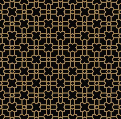 Abstraktes nahtloses Muster. Geometrische Linie Goldverzierung. Ornamen