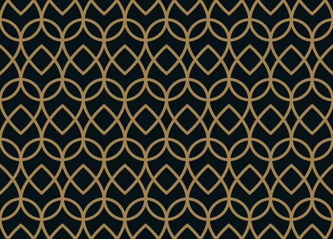 Modello lineare senza cuciture con linee curve incrociate con col oro