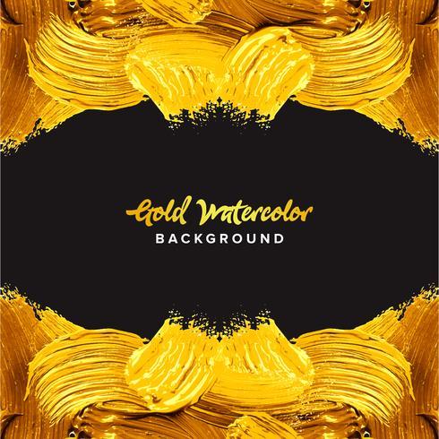 Goldaquarellbeschaffenheitsfarben-Fleckhintergrund