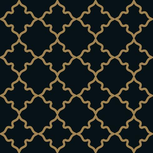 Patrón sin costuras Elegante adorno lineal. Bac estilo geométrico