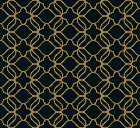 Seamless pattern. Graphic lines ornament. Floral stylish backgro