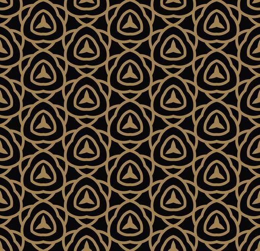 Abstrakt sömlöst mönster. Geometrisk linje guld prydnad. ornamen