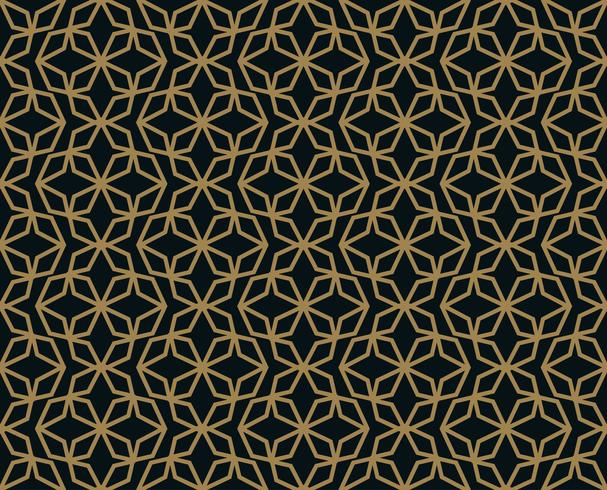 Seamless pattern with line ornament. Abstract modern geometric v