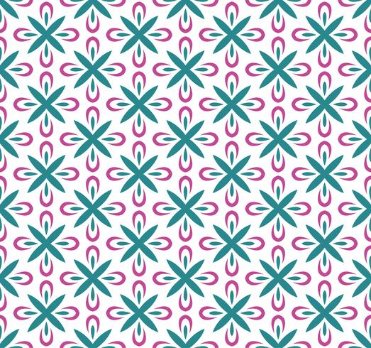 Nahtloses abstraktes Blumenmuster. Symmetrie modernen Stil