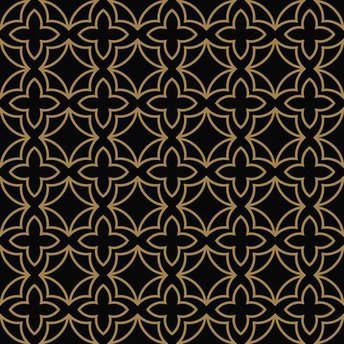 Abstraktes nahtloses Muster. Geometrische Linie Goldverzierung. Ornamen vektor