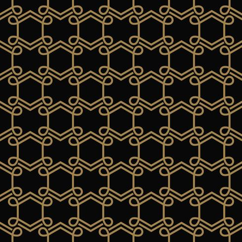 Moderne geometrische Luxusverzierungen mit Linien nahtlose Muster