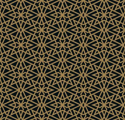 Vector modern geometric tiles pattern. golden lined shape. Abstr