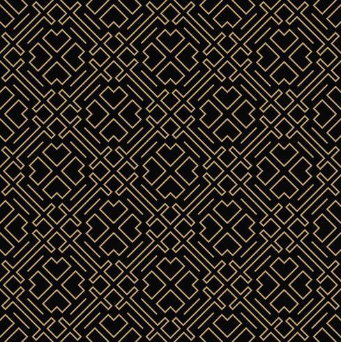 geometrische lijn ornament naadloze patroon, moderne minimalistische styl