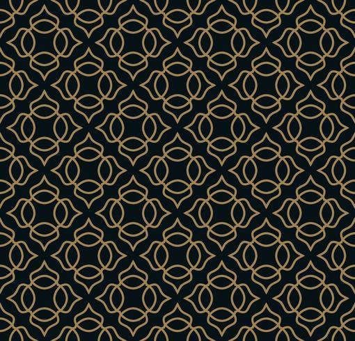 Naadloos patroon. Elegant lineair ornament. Geometrische stijlvolle bac vector
