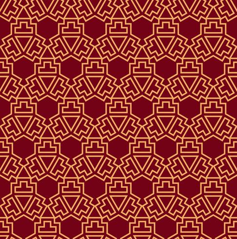 Seamless vector ornament. Modern stylish geometric linear pattern with golden color
