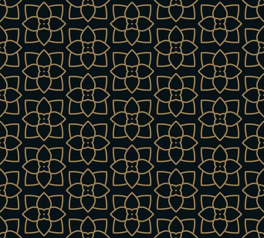 Seamless mönster med linje prydnad. Sammanfattning modern geometrisk v