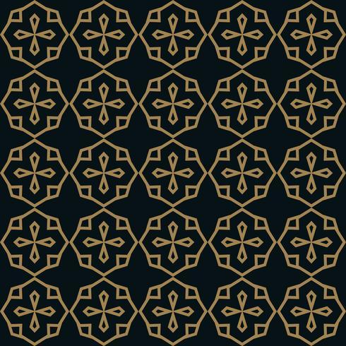 elegante lijn ornament patroon naadloze patroon voor achtergrond, w vector