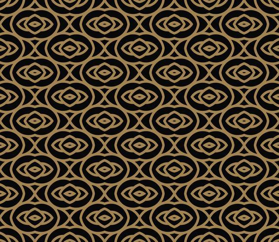 Abstract naadloos patroon. Geometrische lijn gouden sieraad. ornamen vector