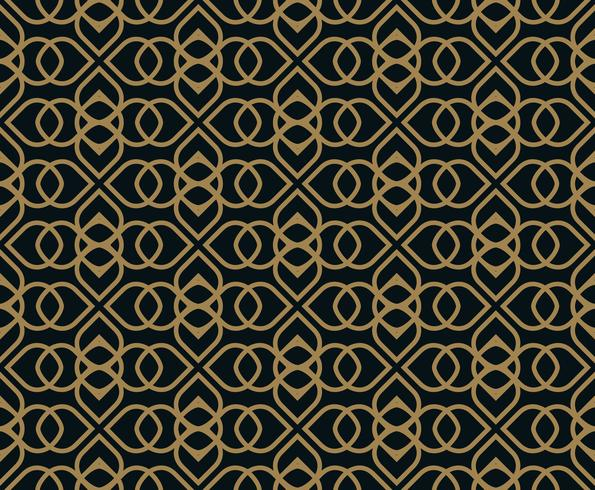 Seamless pattern. Graphic lines ornament. Floral stylish backgro vector
