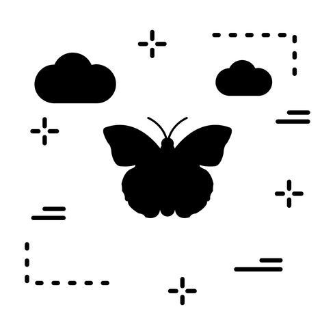 Vector icono de mariposa