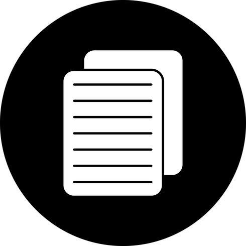 Vektordokumenten-Symbol vektor